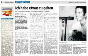 Interview Masen Mindener Tageblatt